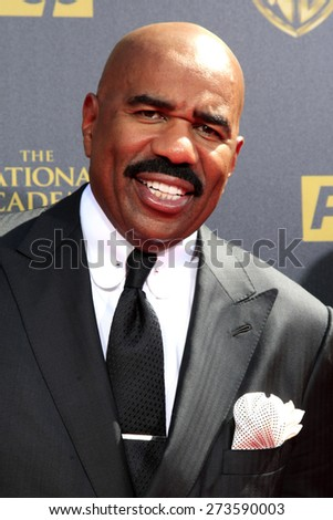 BURBANK - APR 26: Steve Harvey at the 42nd Daytime Emmy Awards Gala at Warner Bros. Studio on April 26, 2015 in Burbank, California - stock photo