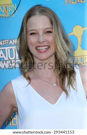 BURBANK - JUNE 25: Rachel Nichols arrives at the 41st Annual Saturn Awards on Thursday, June 25, 2015 at the Castaway Restaurant in Burbank, CA. - stock photo