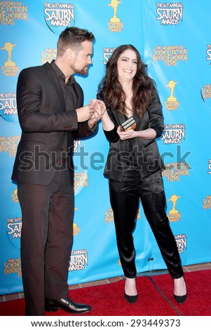BURBANK - JUNE 25: Shane West and Janet Montgomery arrive at the 41st Annual Saturn Awards on Thursday, June 25, 2015 at the Castaway Restaurant in Burbank, CA. - stock photo