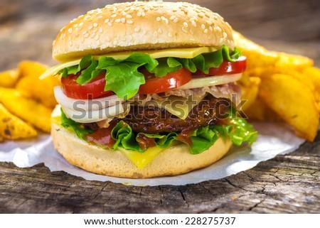 Burger - stock photo