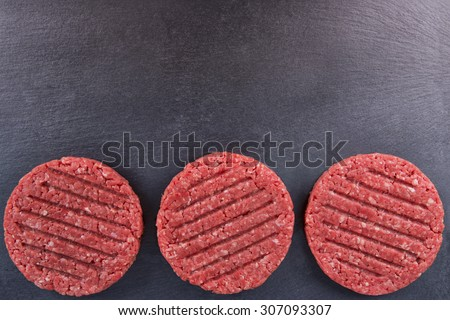 Burger patties - stock photo