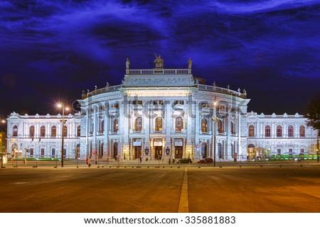 Burgtheater (Imperial Court Theatre), originally known as K.K. Theater an der Burg,Vienna. Austria. - stock photo