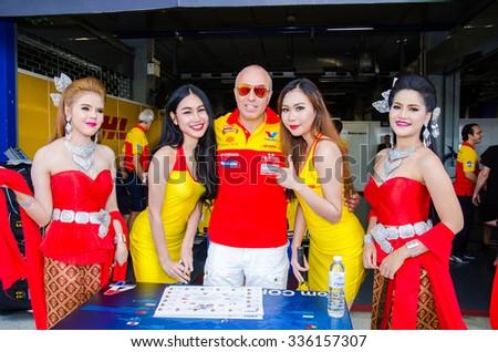 BURIRAM - NOVEMBER 1: Tom Coronel of ROAL Motorsport Team on display 2015 FIA World Touring Car Championship on November 1, 2015 at Chang International Racing Circuit, Buriram Thailand. - stock photo