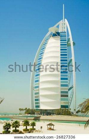 burj al arab in the emirates - stock photo