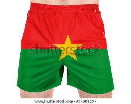 Burkina Faso flag - stock photo