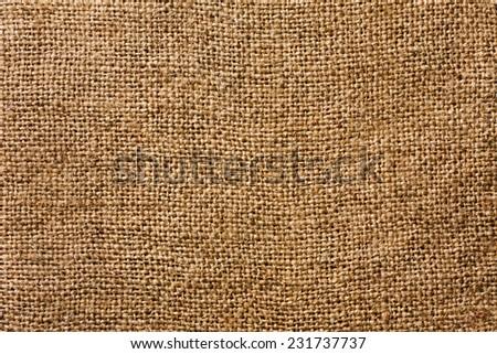Burlap Fabric Texture - stock photo