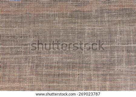 Burlap natural texture background - stock photo