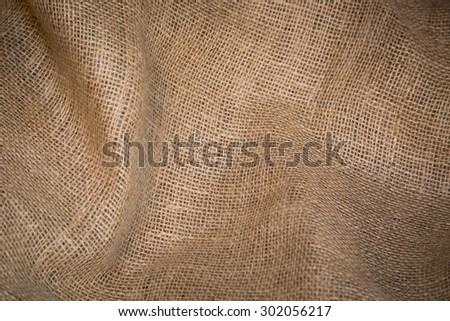 Burlap sack abstract background texture - stock photo