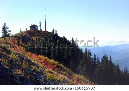 Burley Mountain Fire Lookout, Washington state, Gifford Pinchot National Forest - stock photo