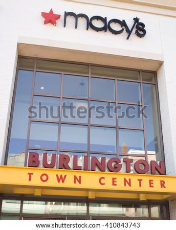 BURLINGTON, VERMONT - Church Street entrance to the downtown Burlington Town Center Mall in Burlington, Vermont on 3/12/2016. - stock photo