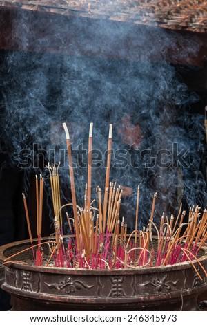Burn incense, - stock photo