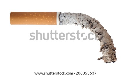 Burned cigarette. Men's Health Concept - stock photo