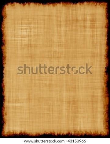 Burned Parchment paper - stock photo