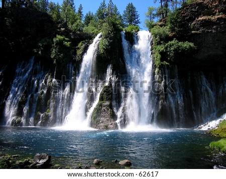 Burney Falls in northern California - stock photo