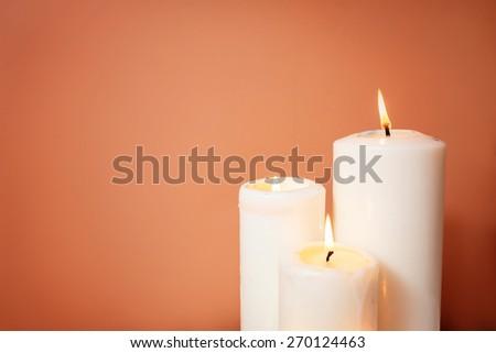 burning candles. spa  - stock photo