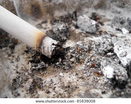 Burning cigarette - stock photo