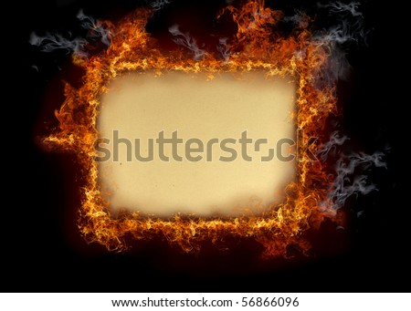 Burning old paper - stock photo