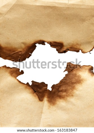 Burning Paper with burned edges for a background - stock photo