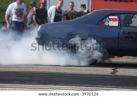 burning rubber 10 - stock photo