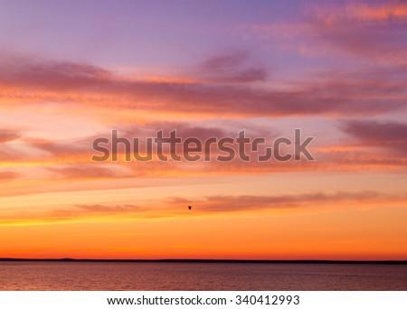Burning Skies Night is Coming  - stock photo