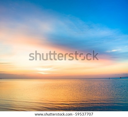 Burning Sunset - stock photo