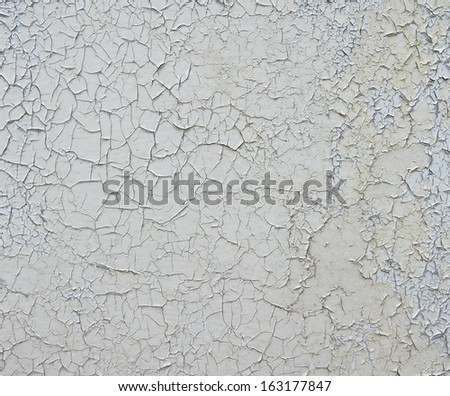 Burst with white paint on the surface - stock photo