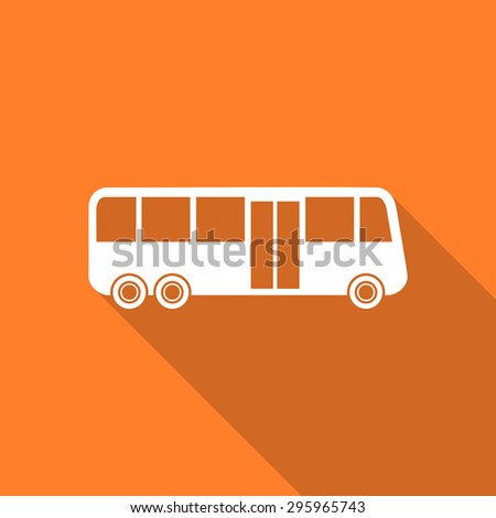 bus flat design modern icon with long shadow for web and mobile app  - stock photo