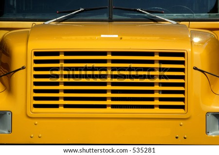 bus grill - stock photo