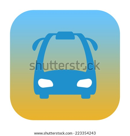 Bus icon - stock photo