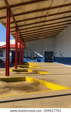 Bus station in Trinidad, Cuba  - stock photo