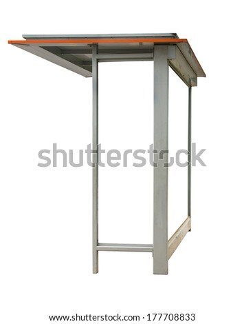 bus stop with white space text over white - stock photo