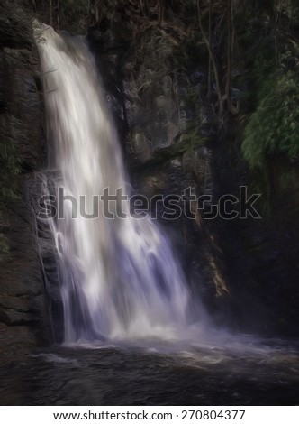 Bushkill Falls in Pennsylvania - stock photo