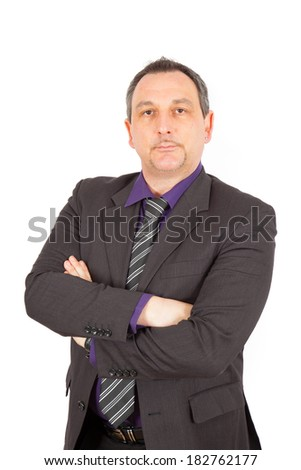 Businesman doing different poses - stock photo