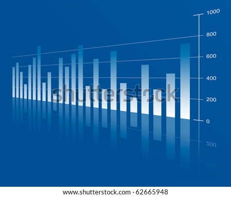 Business abstract background from graph - stock photo