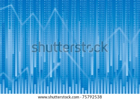 Business abstract background in blue tones - stock photo