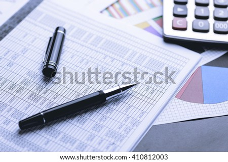 Business accounting , Business documents, Business accounting , Business Financial - stock photo