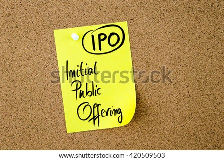 initial public offerings paper essay Initial public offering (ipo) and benefits essaysaccording to warren fees in his book accounting, there are a number of factors that ultimately control the pricing of an initial public.