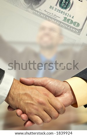 business agreement(made from my images) - stock photo