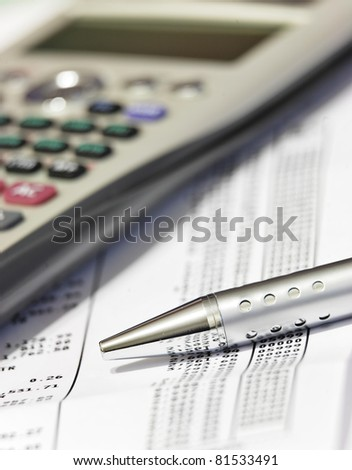 business analysis - stock photo