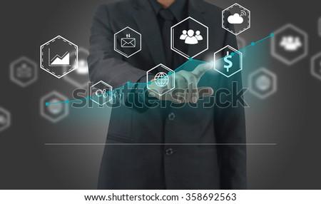 Business analysis diagram. - stock photo