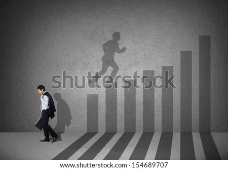 Business and career strength concept - stock photo
