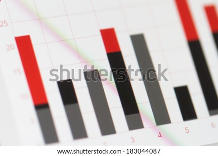 Business and finance concept, graph chart on computer monitor screen. - stock photo