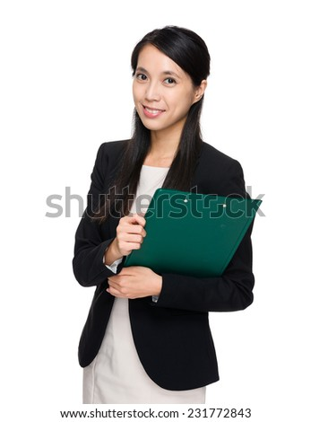 Business assistant with clipboard - stock photo