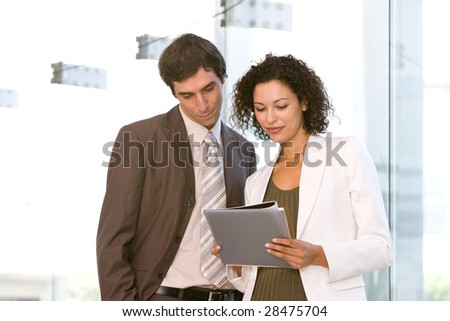 business associates planning new strategy - stock photo