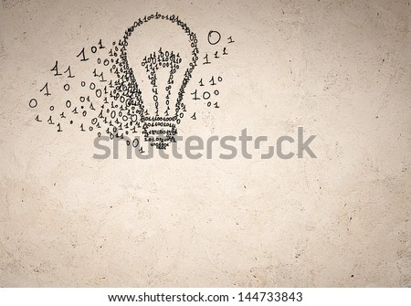 Business background image with binary code. Concept - stock photo