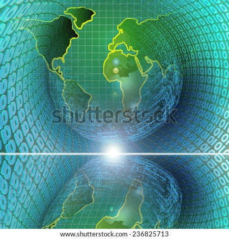 Business background with map and digits. - stock photo