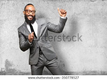 business black man dancing - stock photo