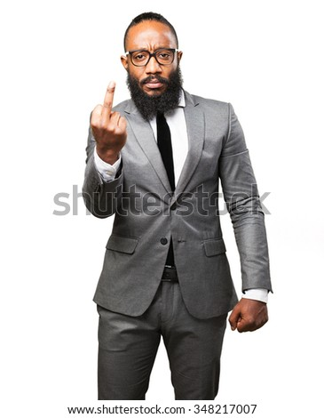 business black man insulting - stock photo