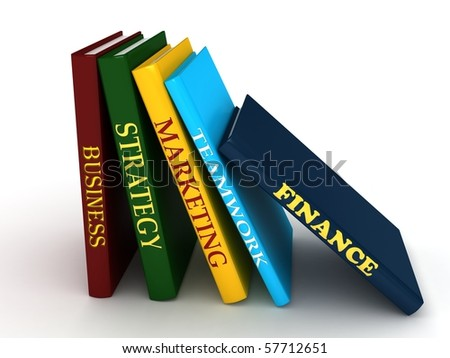 Business book. 3d rendered image - stock photo