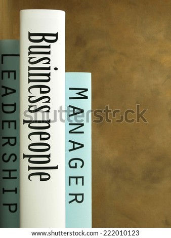 Business books - stock photo